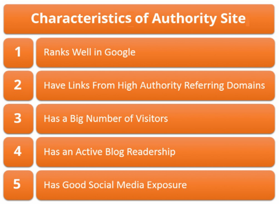 Characteristics of Authority Websites